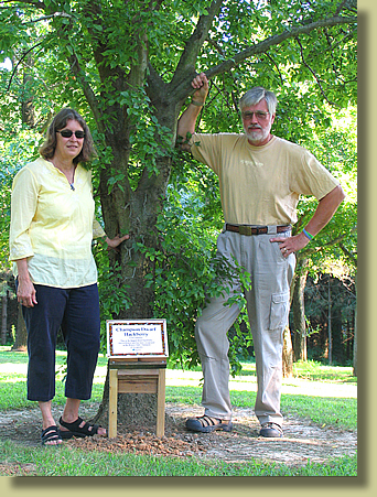 Edie and Guy with the Illinois Champion Dwarf Hackberry at Starhill Forest